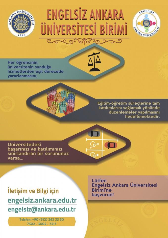Engelsiz Ankara Üniversitesi Broşür
